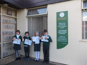 Pupils at William de Yaxley with their donated seeds