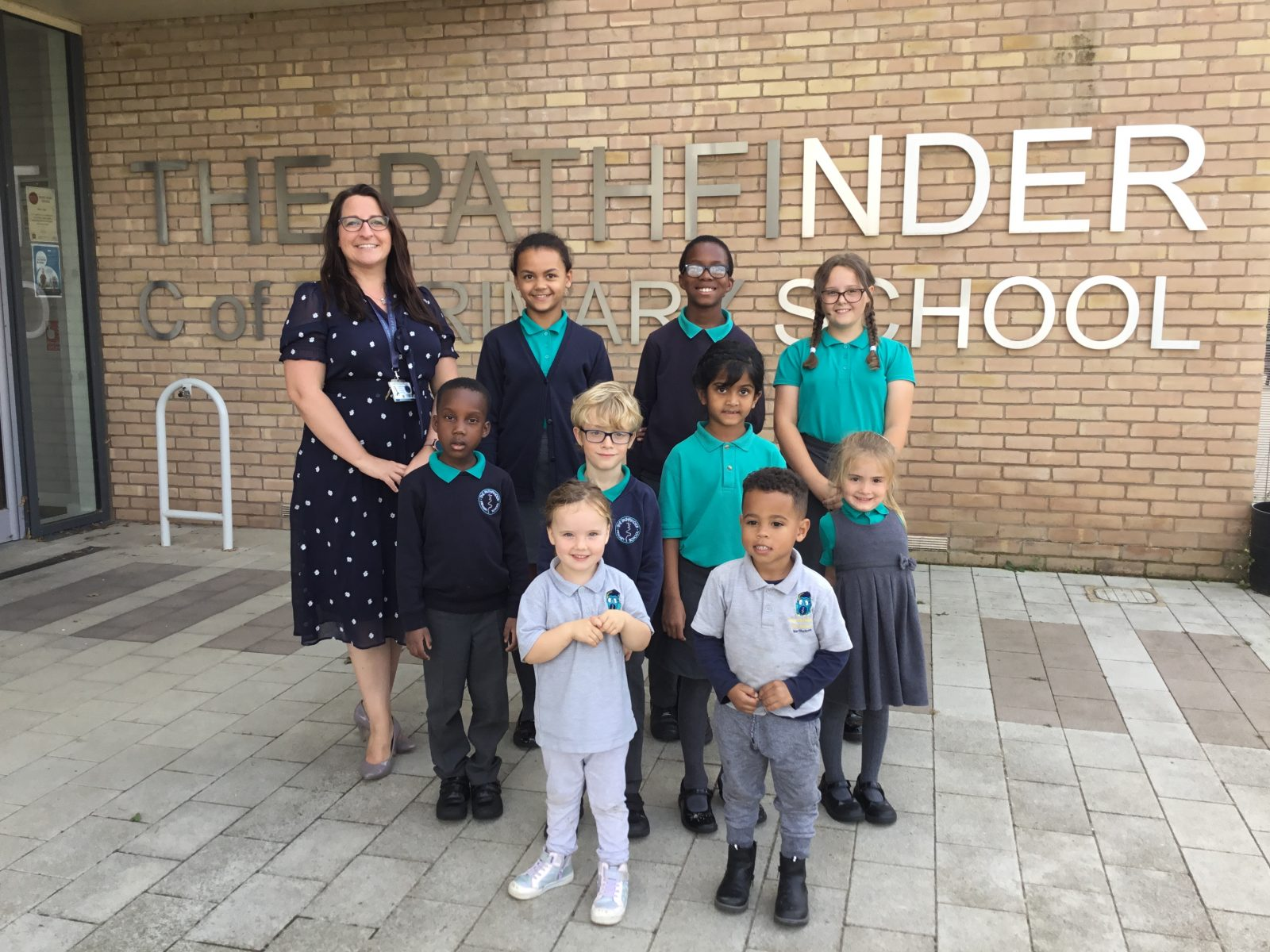 Pupils at the Pathfinder Church of England School
